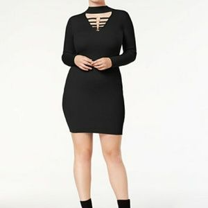 Say What? bodycon sweater dress.